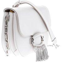 Jacques Loup FR - T-Ring - Sac en cuir avec pompons - blanc  sacs de marque en promos