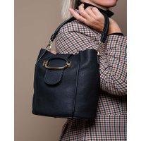 Jacques Loup FR - T-Ring - Sac seau en cuir avec boucle en métal - noir  sacs de marque en promos