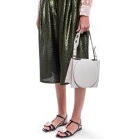 Jacques Loup FR - Sac en cuir avec rabat circulaire et anse en tissu - crème  sacs de marque en promos