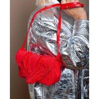 Jacques Loup FR - Felix S - Pochette en toile avec design froufrou - rouge  sacs de marque en promos