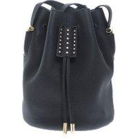 Jacques Loup FR - Micro - Sac seau en cuir avec clous métalliques - noir  sacs de marque en promos
