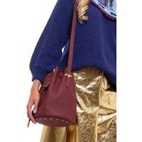 Jacques Loup FR - Micro - Sac seau en cuir avec clous métalliques - Bordeaux  sacs de marque en promos
