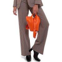 Jacques Loup FR - Diana S - Sac seau en cuir avec 2 anses - Orange  sacs de marque en promos