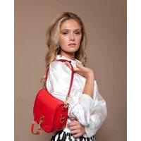 Jacques Loup FR - The Saddle - Sac en cuir forme arrondi grand rabat - rouge  sacs de marque en promos