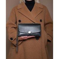 Jacques Loup FR - Trouble - Sac en cuir avec fermeture ronde aimantée - noir  sacs de marque en promos