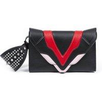 Jacques Loup FR - Felina M - Pochette en cuir avec rabat et design multicolore - noir  sacs de marque en promos