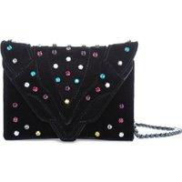 Jacques Loup FR - Felina - Pochette en velours avec pierres de couleur - noir  sacs de marque en promos